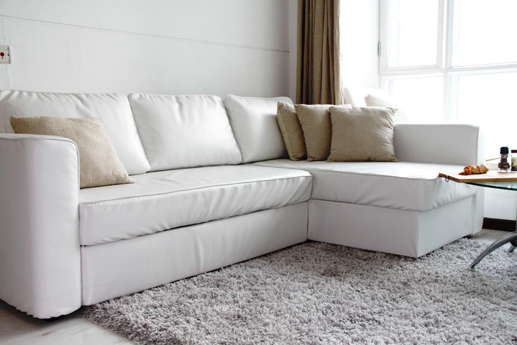 White IKEA Leather Couch