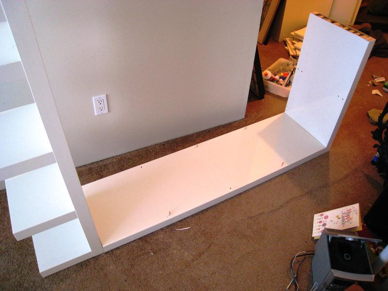 Image of: IKEA High Gloss White Shelf