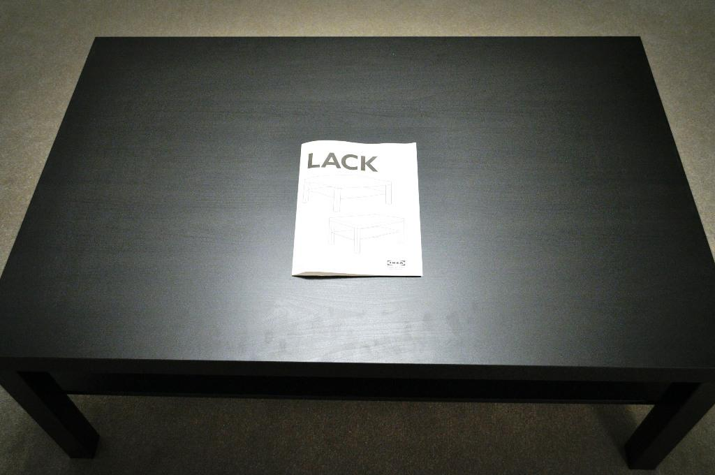 IKEA Lack Coffee Table Black