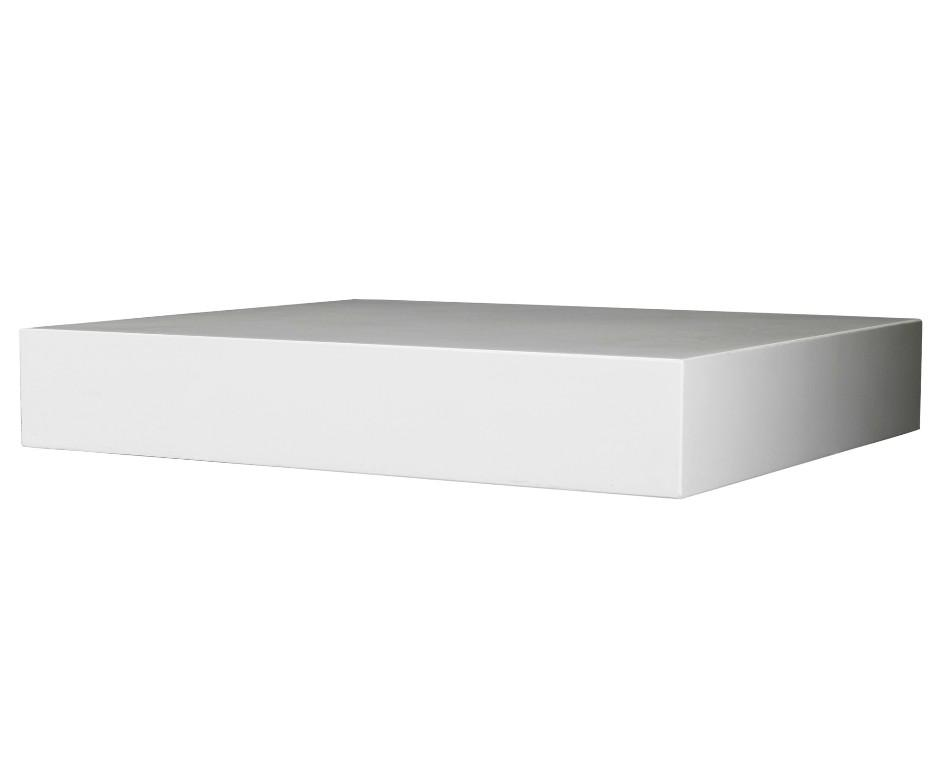 Image of: IKEA Lack Shelf White