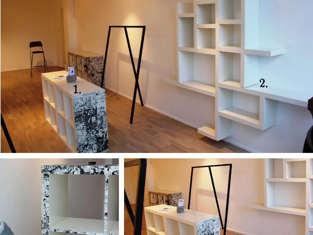 Image of: IKEA Lack Wall Shelf Unit