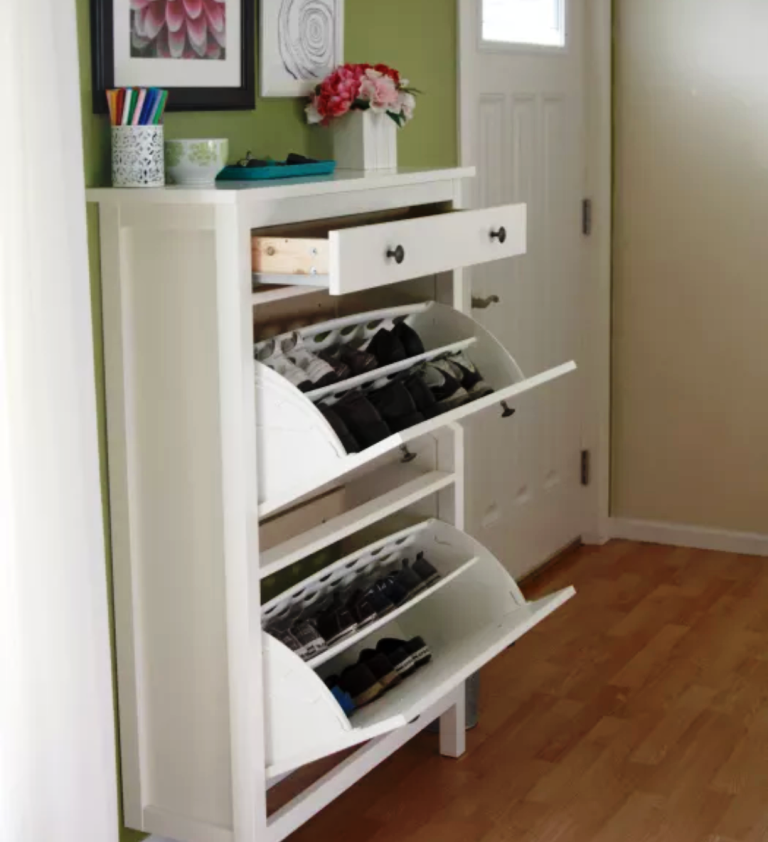 Shoe Storage Cabinet IKEA Tilt Out White