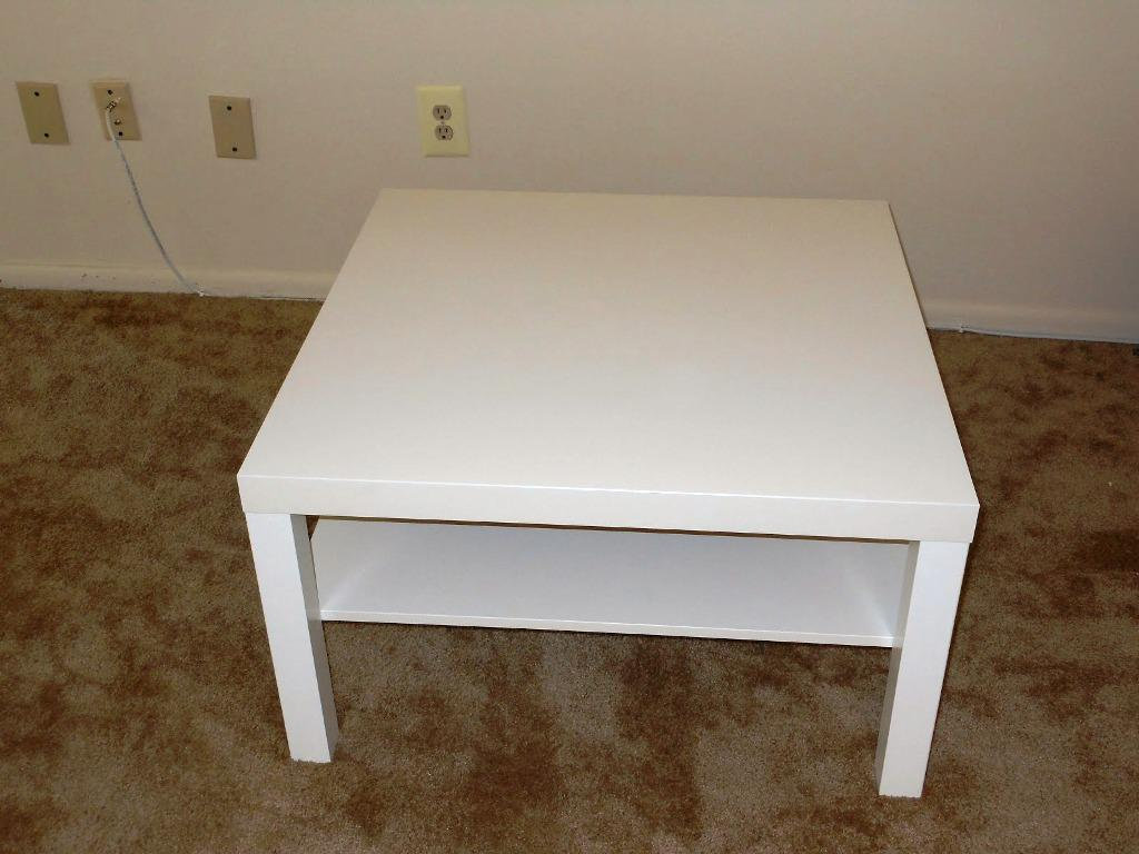 Square IKEA Lack Coffee Table