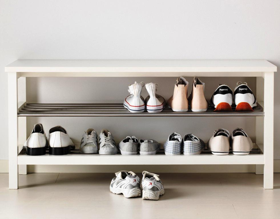 Contemporary Shoe Storage Bench IKEA Shelving