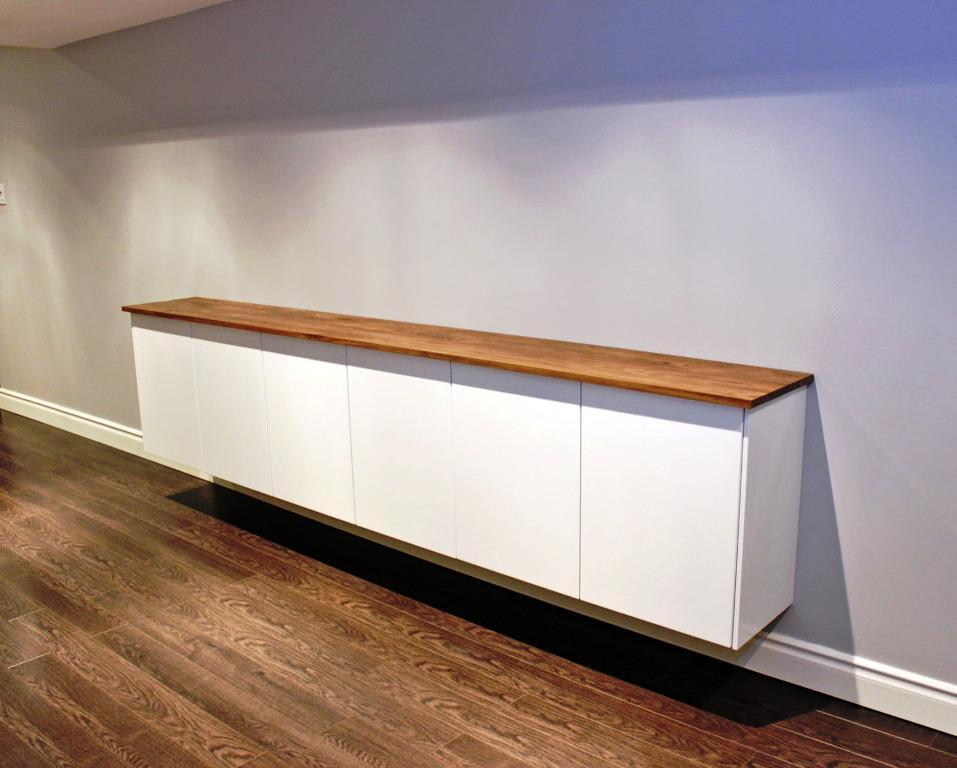 Floating Credenza On Wall