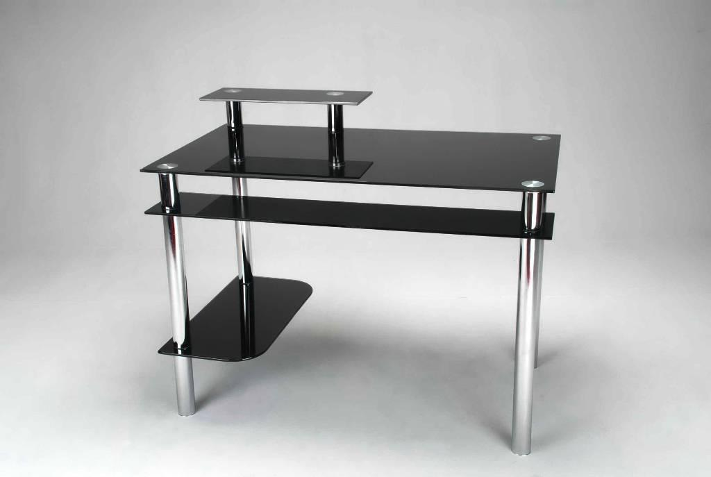 Image of: Glass Top Desk IKEA