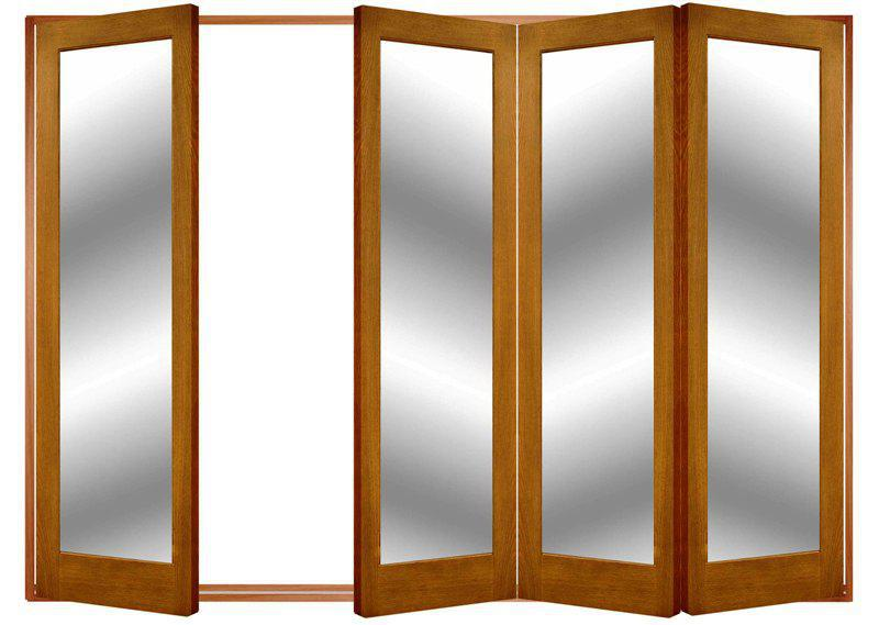 Glass Wood Accordion Doors IKEA