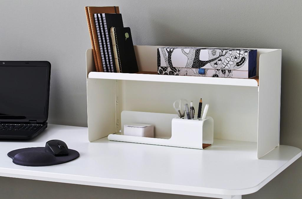 Image of: IKEA Desk Top Shelf