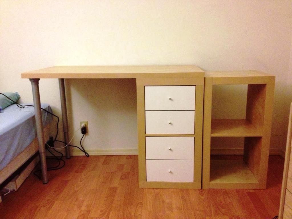 Image of: IKEA Desk Top Solid Wood