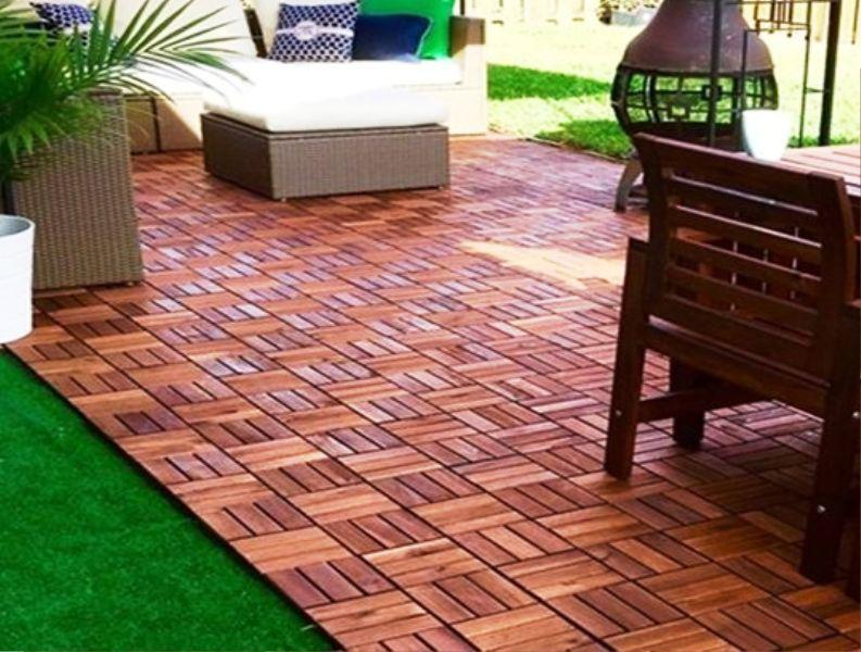 IKEA Flooring Wood Deck Tiles