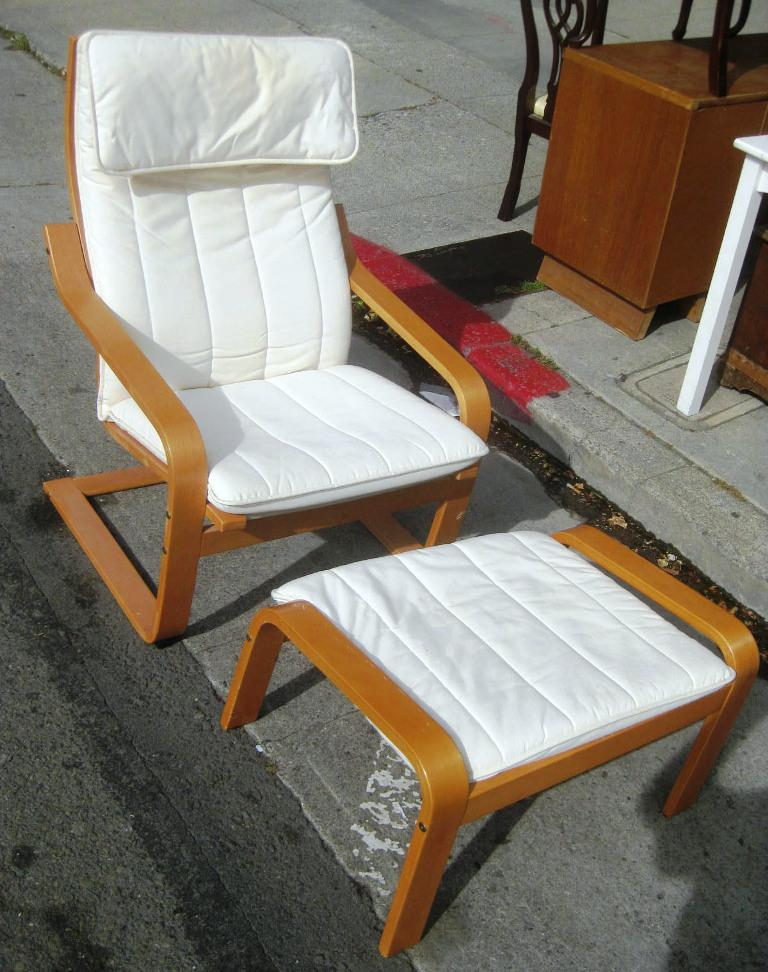 IKEA Poang Chair And Ottoman