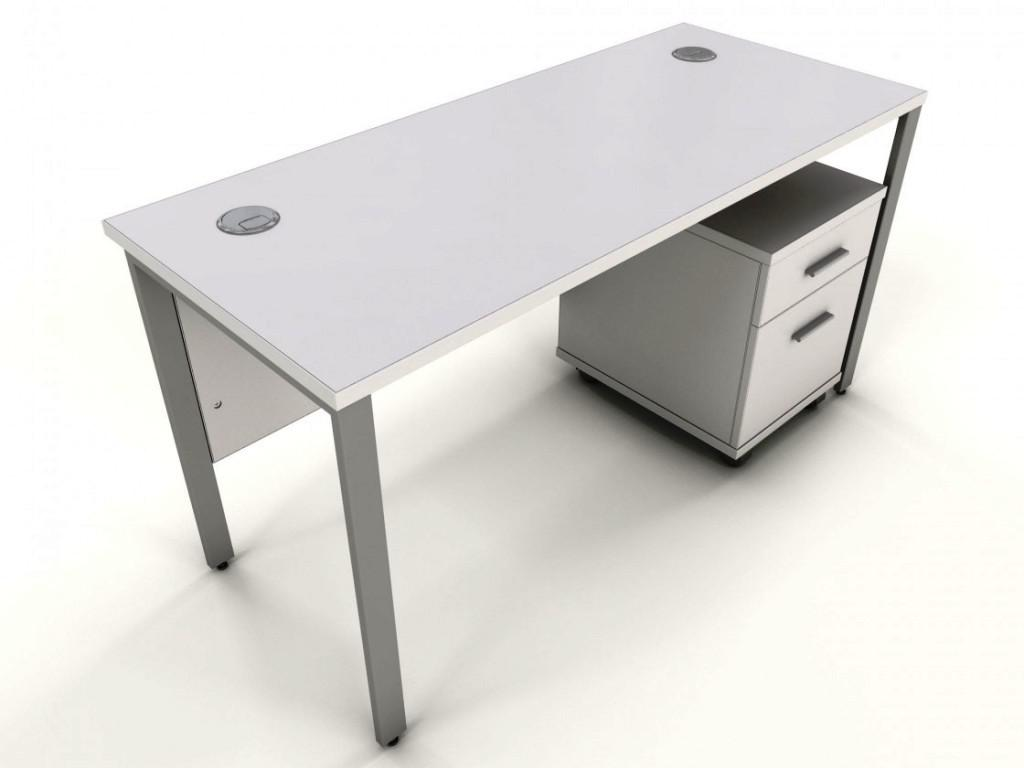 Image of: White IKEA Desk Top