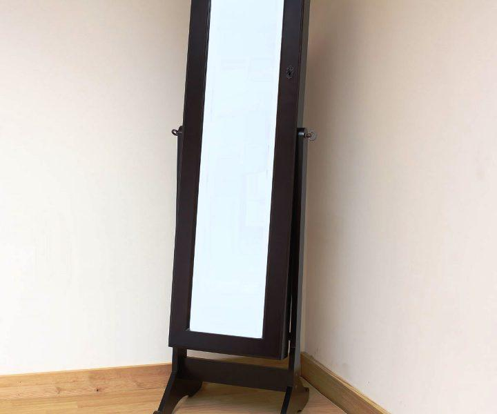 Wooden Floor Mirror