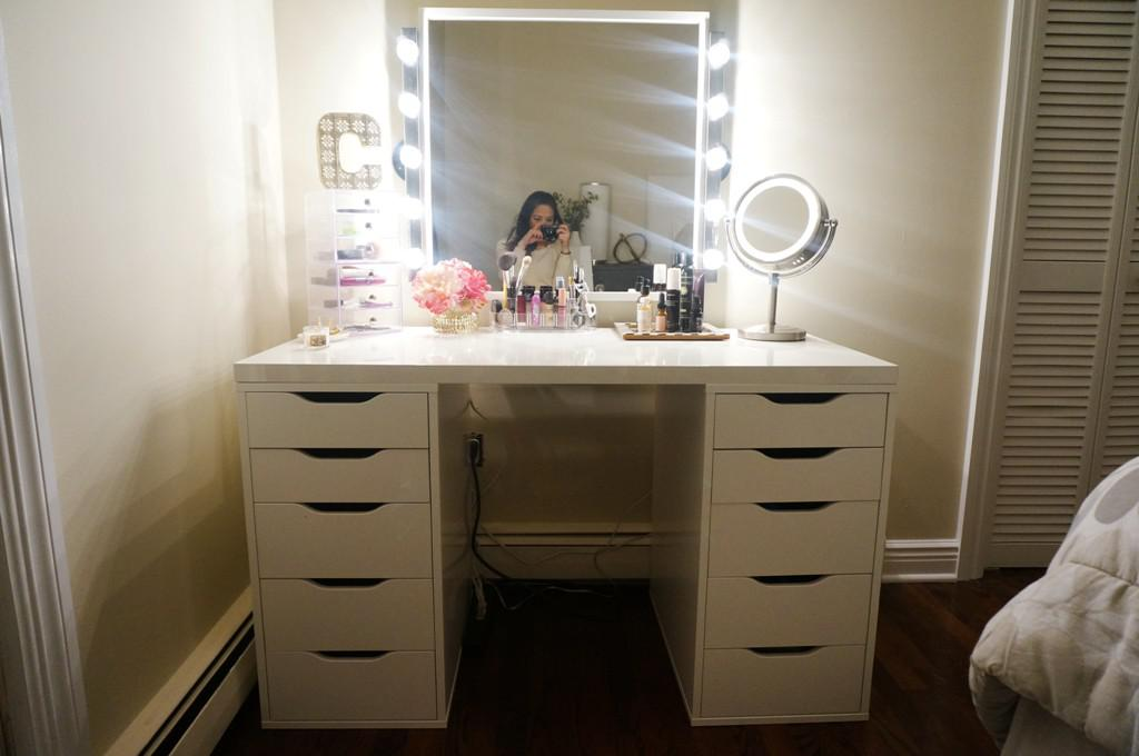 Awesome Vanity Mirror With Lights IKEA