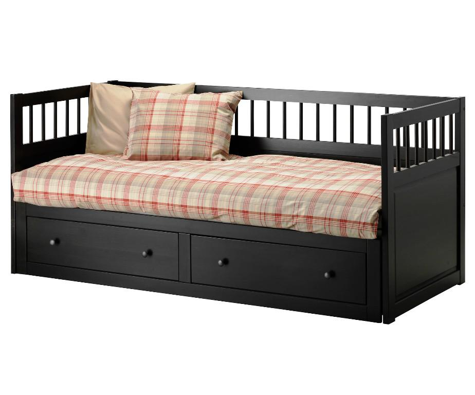 Black Trundle Bed Mattress IKEA With Storage Drawers