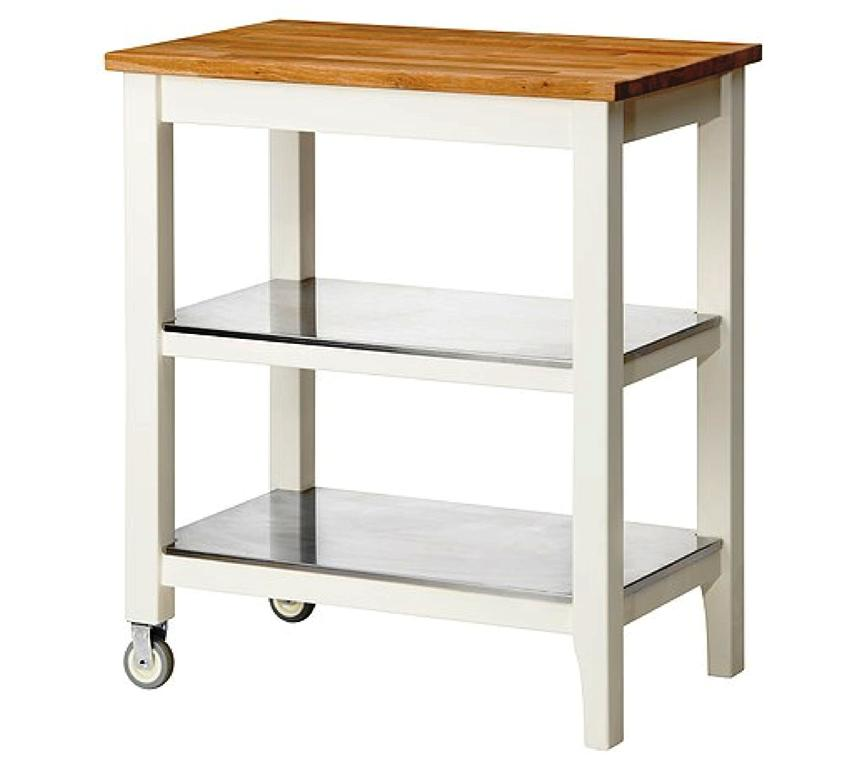 Butcher Block IKEA Rolling Cart