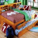 Contemporary Wood Full Size Trundle Bed IKEA
