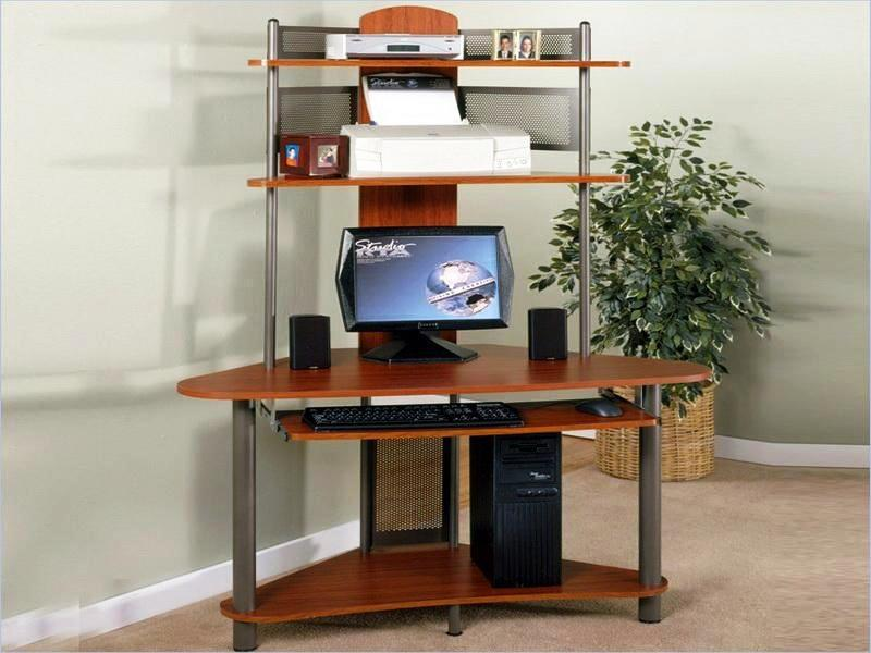 Corner Desk With Hutch IKEA Computer Workstation