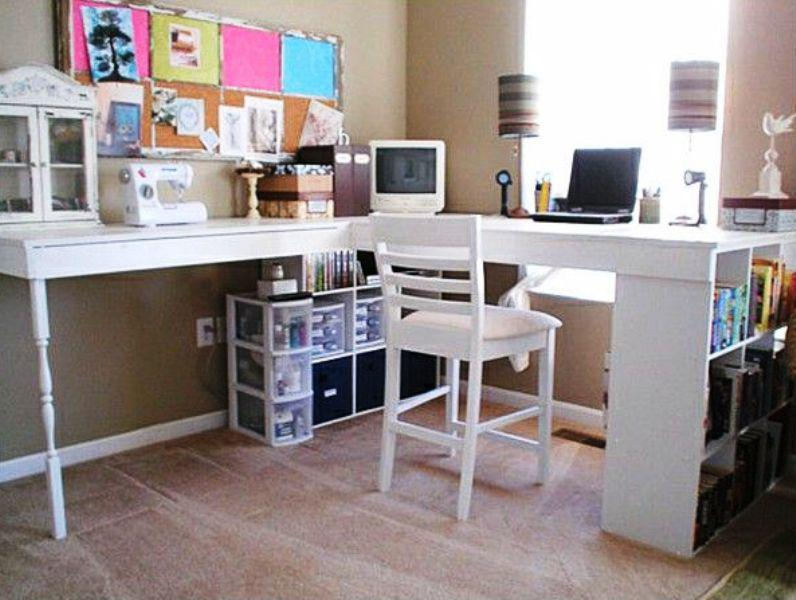 Corner Desk With Hutch IKEA Hack Ideas