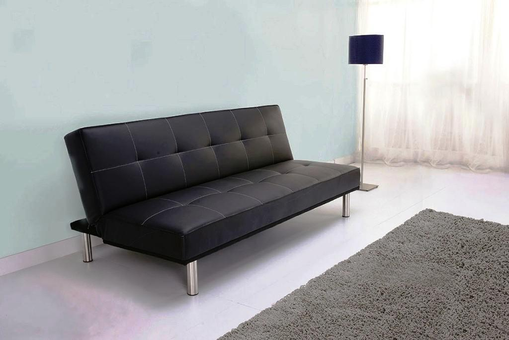 Image of: IKEA Leather Futon