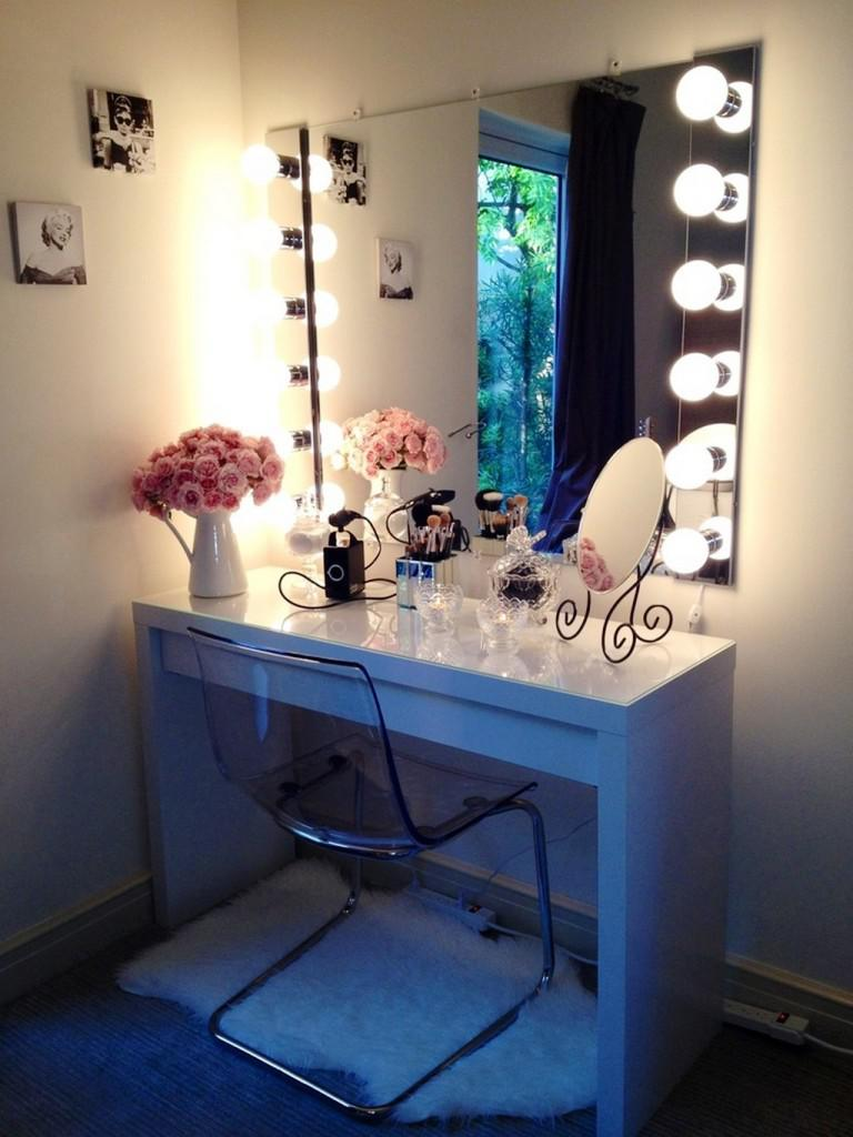 IKEA Makeup Vanities With Lights