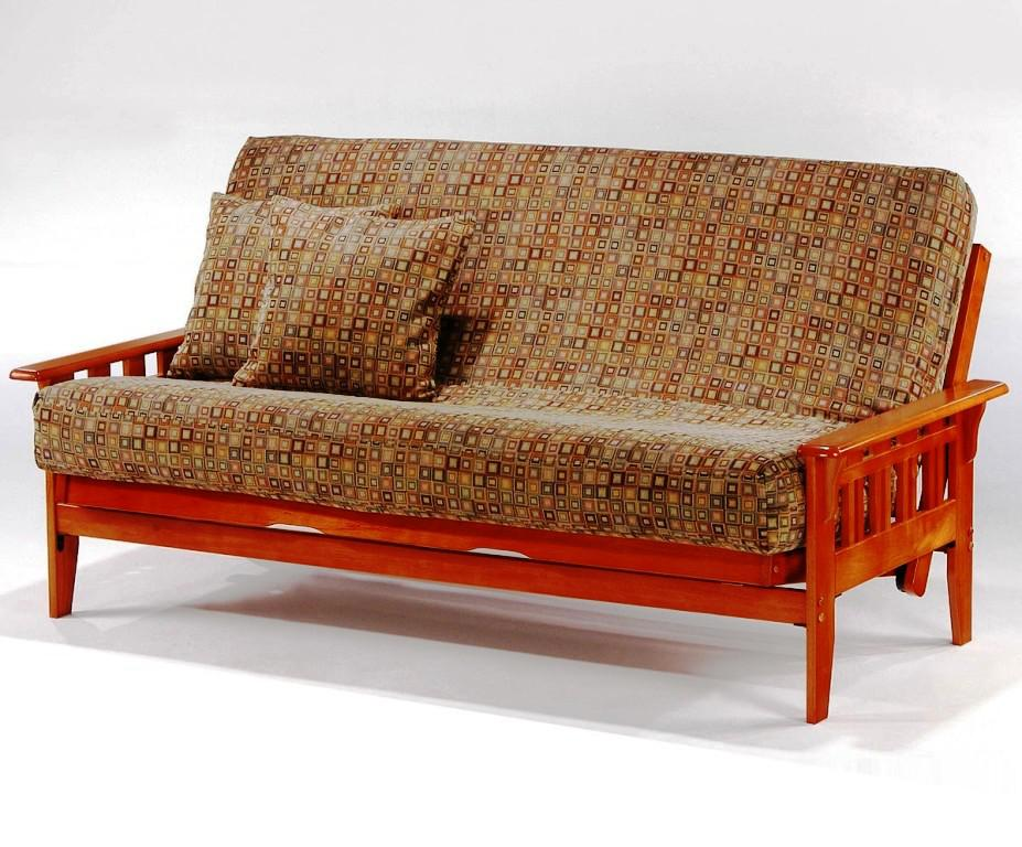 Image of: IKEA Wood Futon