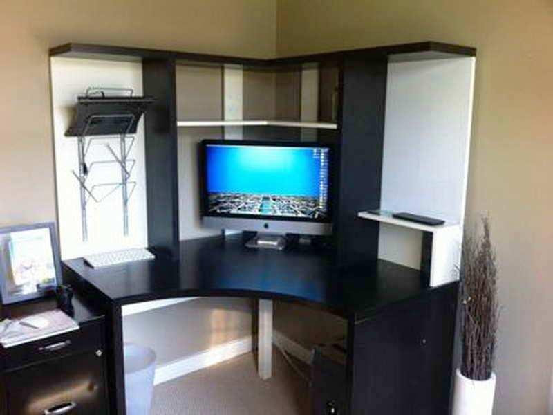 Modern Corner Desk With Hutch IKEA
