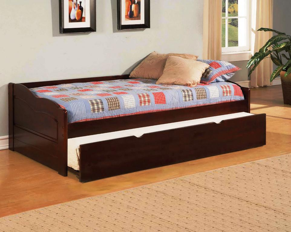 Queen Size Trundle Bed IKEA Brown Wood