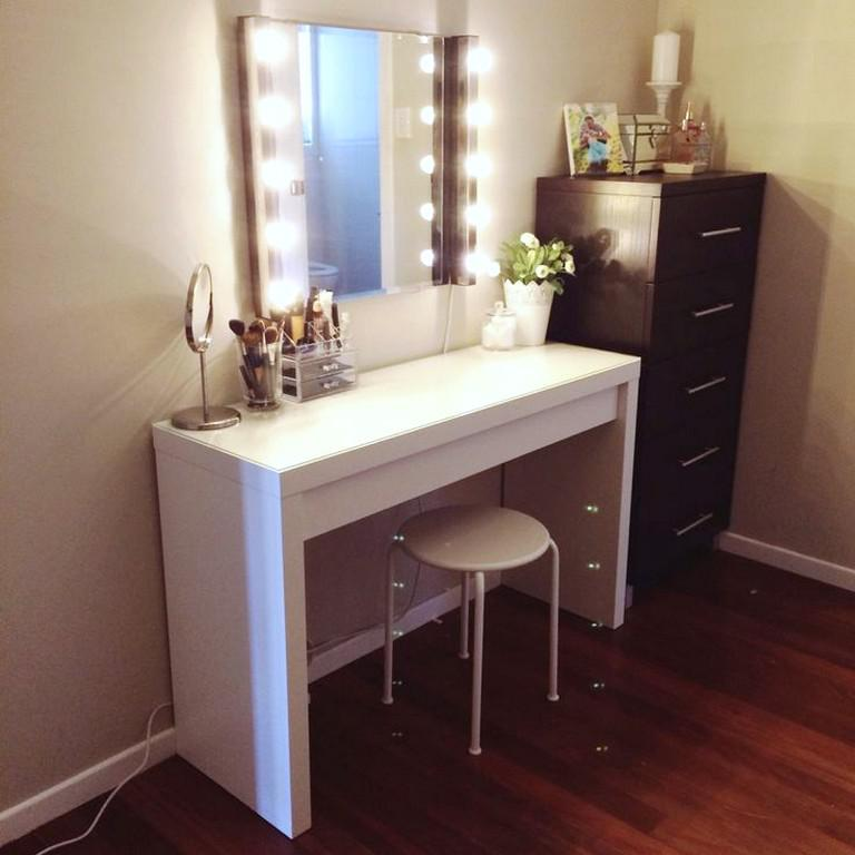 Vanity Mirror With Lights IKEA For Sale