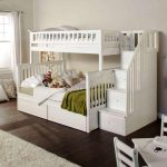 White Bunk Bed With Trundle IKEA With Stairs