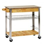 Wood Metal IKEA Rolling Cart