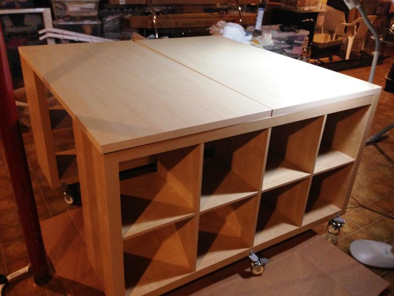 Image of: Art Desk With Storage