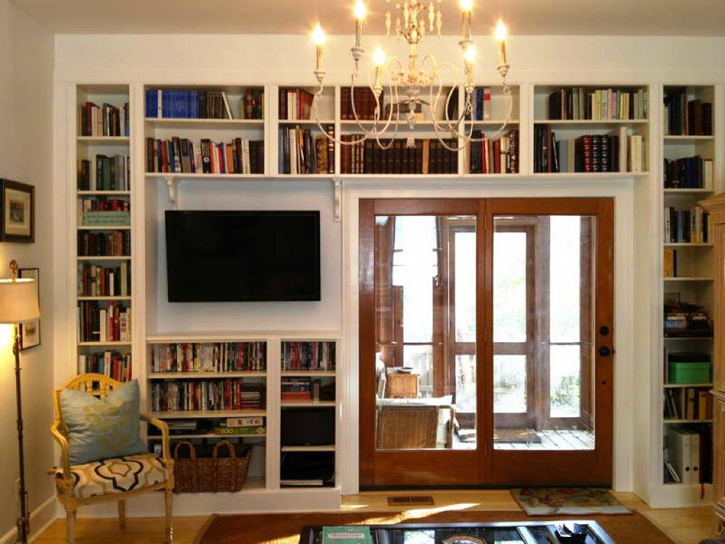 Image of: Built In Bookshelves IKEA