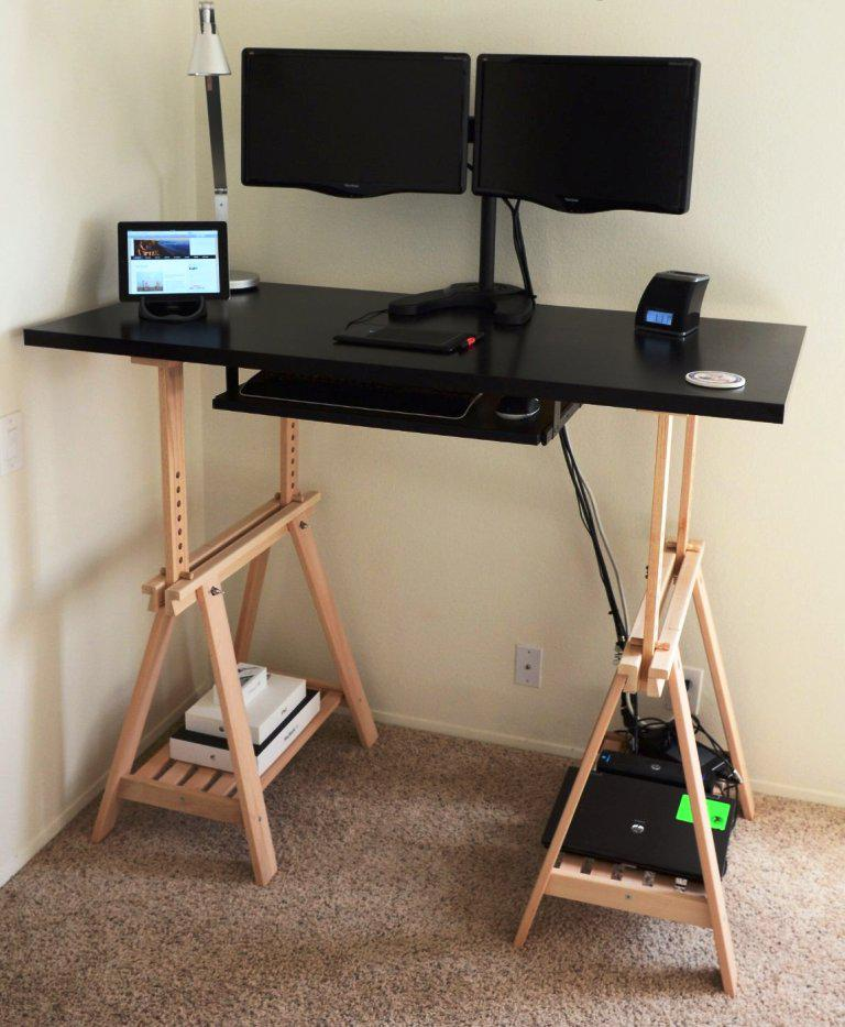 DIY Standing Desk IKEA
