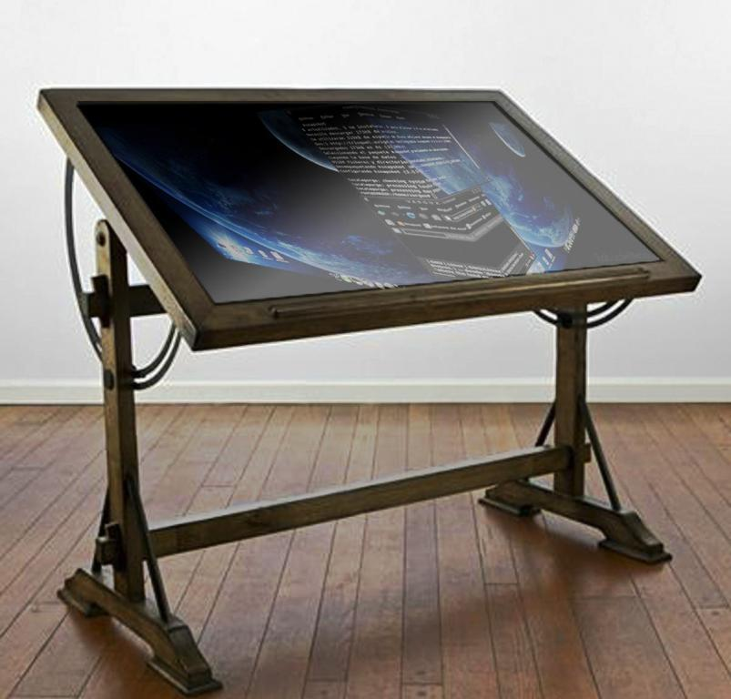Image of: Drafting Table IKEA Glass