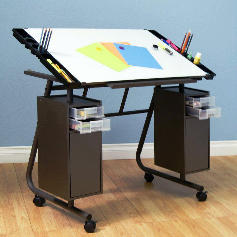Image of: Drafting Table IKEA With Storage