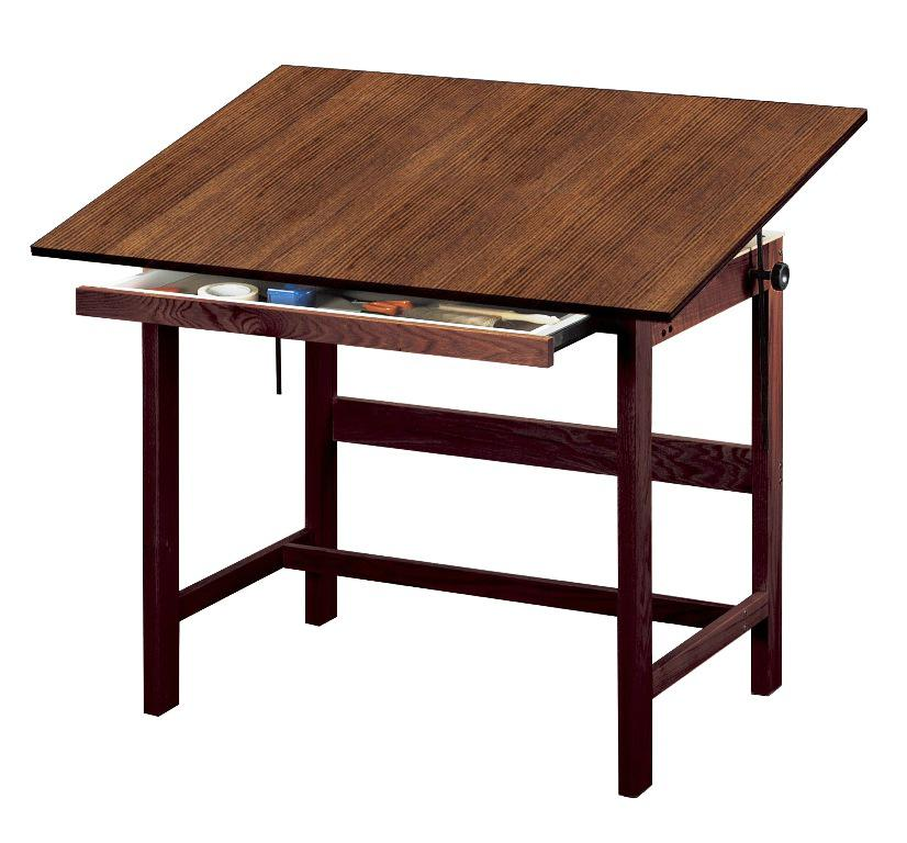 Image of: Drafting Table IKEA Wood