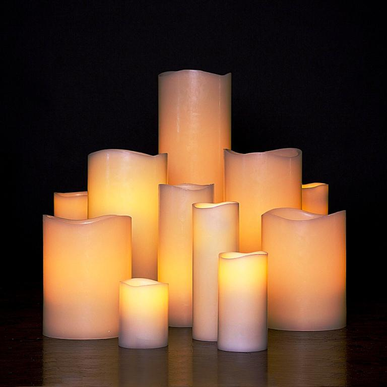 Image of: IKEA Battery Candles