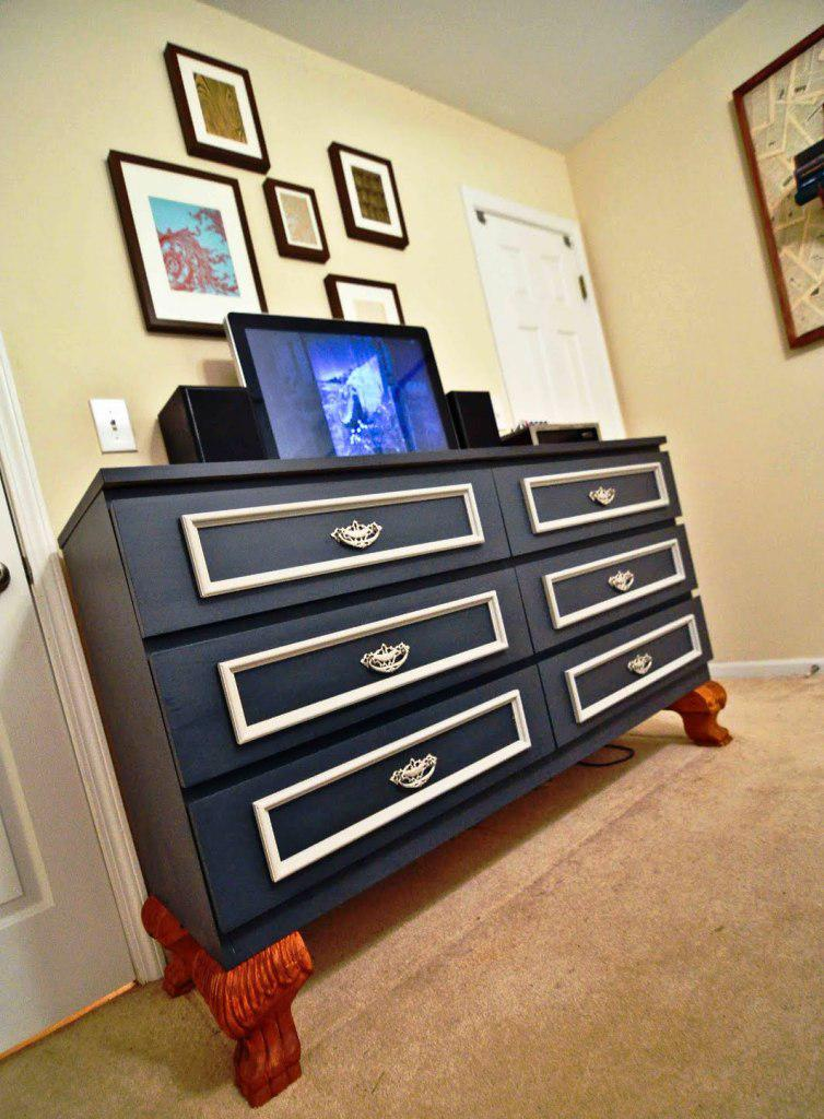 Image of: IKEA Black 6 Drawer Dresser