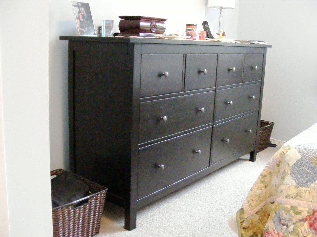 Image of: IKEA Black Brown Dresser