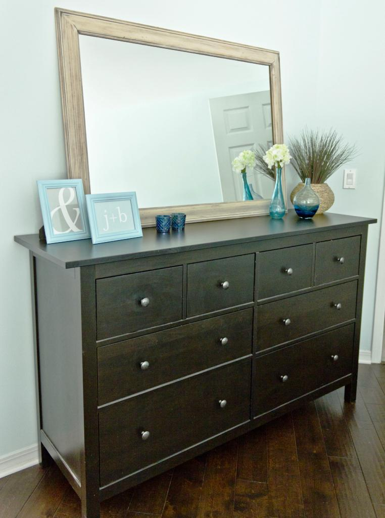 Image of: IKEA Black Dresser 4 Drawer