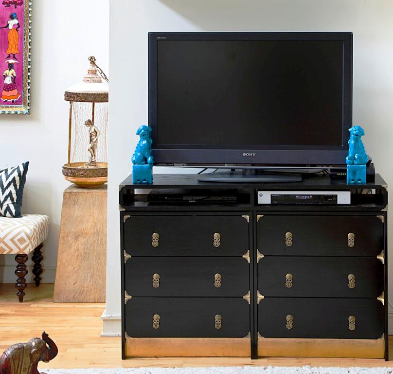 IKEA Black Dresser Bedroom Furniture