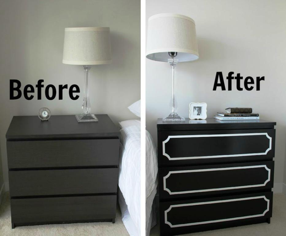 Image of: IKEA Black Dressers