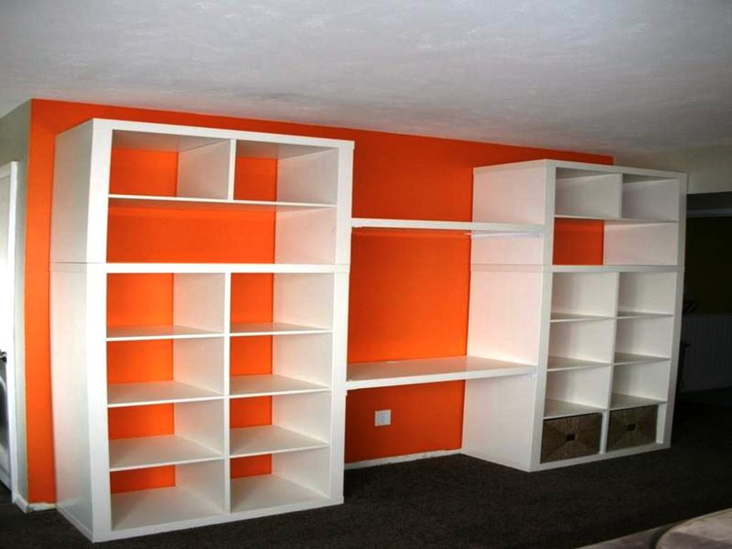 Image of: IKEA Bookshelves Wall