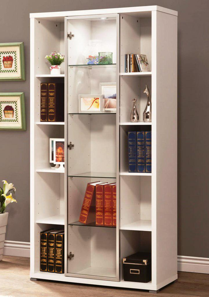 Image of: IKEA Bookshelves With Glass Doors