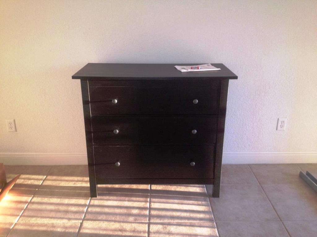 Image of: IKEA Malm 6 Drawer Dresser Black Brown