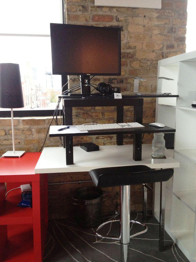 Sit Stand Desk IKEA