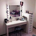 Beautiful Table IKEA Makeup Storage
