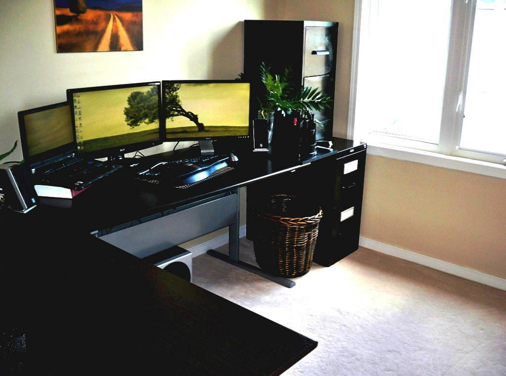 IKEA Black Corner Desk