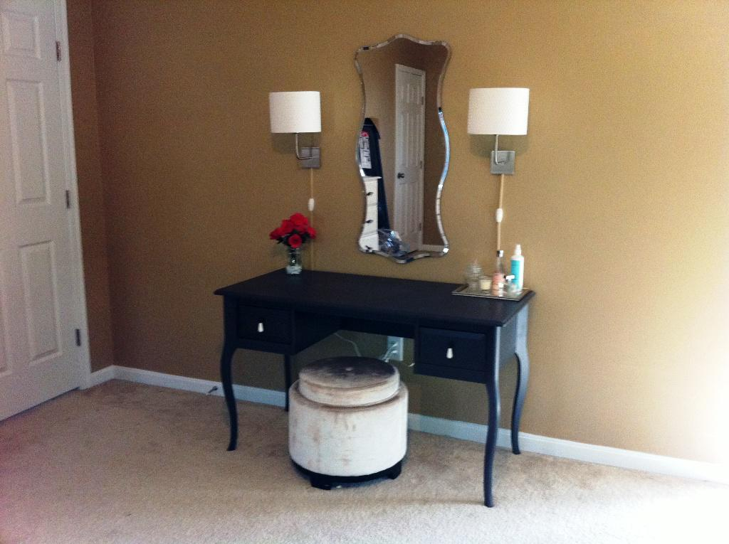 IKEA Black Malm Dressing Table